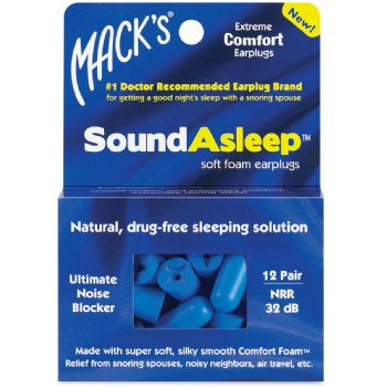 Mack's SoundAsleep Soft Foam Earplugs - 12 Pair Pack